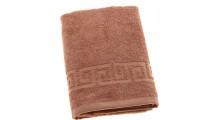 Полотенце махровое гладкокрашеное с греческой каймой 35х70