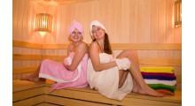 Комплект для сауны женский (юбка,головной убор,варежка)